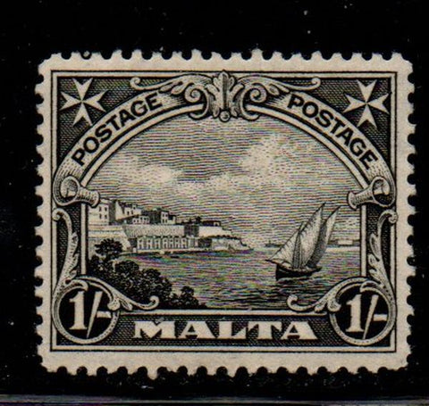 Malta Sc 141 1926 1/ black Valletta Harbour stamp mint