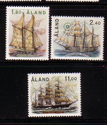 Aland Scott 31-33 1988 Sailing Ships stamp set mint NH