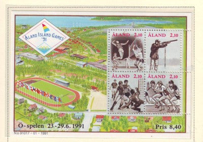 Aland Scott 58 1991 Aland Island Games stamp sheet mint NH