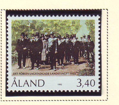 Aland Scott  68  1992 1st Provincial Parliament stamp mint NH