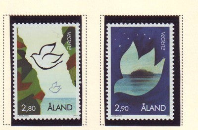 Aland Scott  114-5 1995  Europa stamp set mint NH