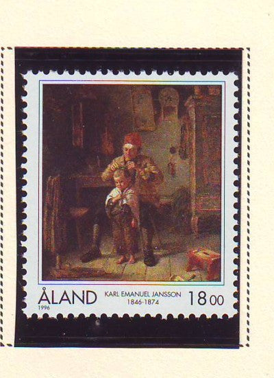 Aland Scott  129 1996 Jansson painting stamp mint NH