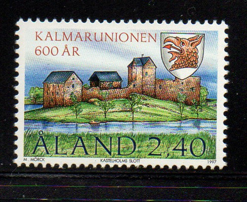 Aland Scott  136 1997 Kalmar Union stamp  mint NH