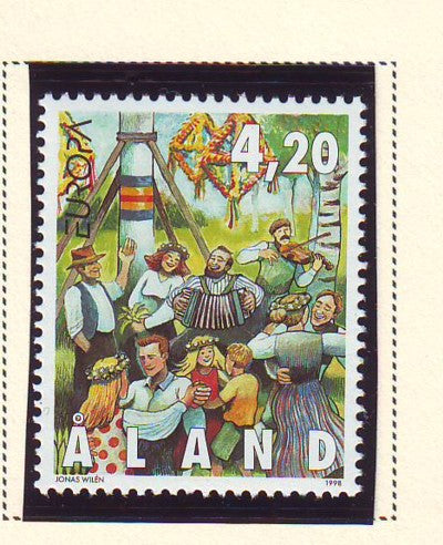 Aland Scott  144 1998 Europa stamp mint NH