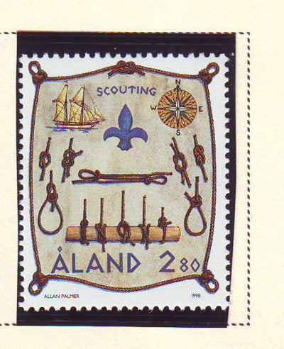 Aland Scott  148 1998 Scouting stamp mint NH