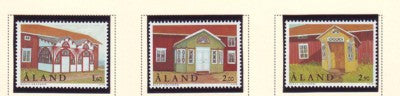 Aland Scott  149-51 1998 Homesteads stamp set mint NH