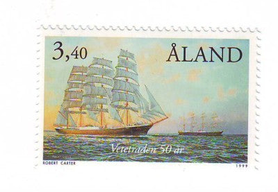 Aland Scott  156 1999 Sailing Past Cape Horn stamp used
