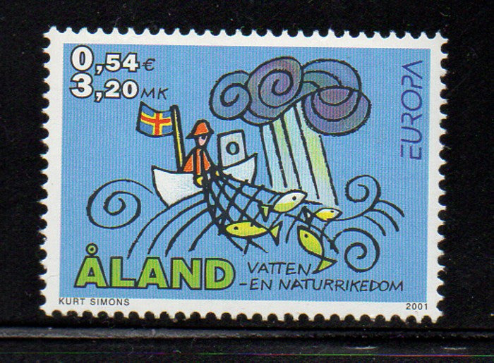 Aland Scott  187 2001 Europa stamp mint NH