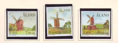 Aland Scott  188-90 2001 Windmills stamp set mint NH