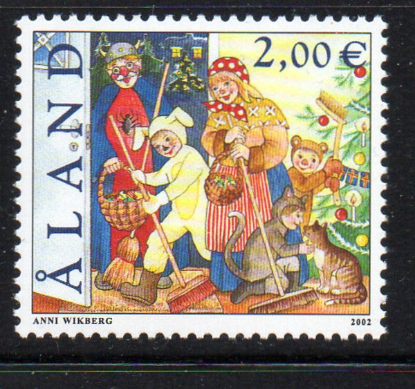 Aland Scott  202 2002 St Canute's Day stamp mint NH