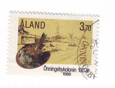 Aland Finland Scott  25 1986 Onningeby Artists Colony stamp used