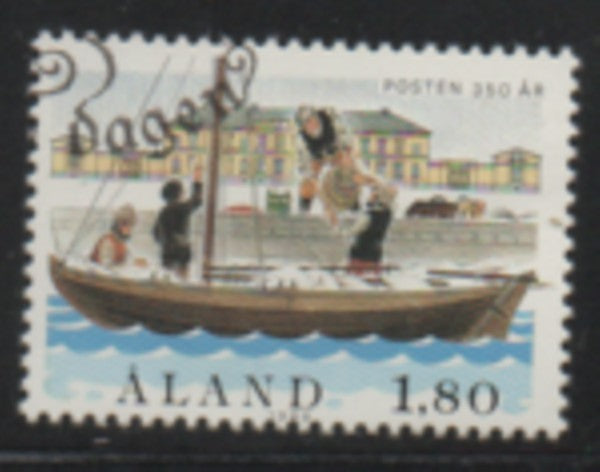 Aland Finland Scott 29 1988 350th Anniv Post Office stamp used