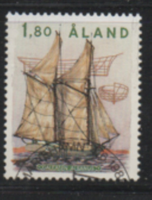 Aland Finland Scott 31 1988 Sailing Ship Albanus stamp used
