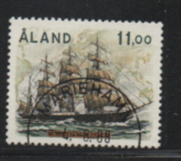 Aland Finland Scott 33 1988 Sailing Ship Pamir stamp used