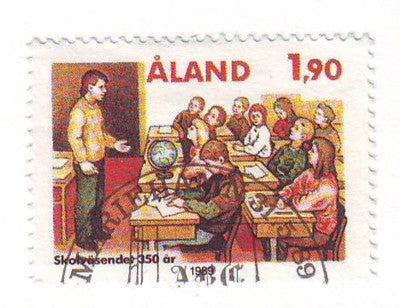 Aland Finland Scott 57 1989 Education System stamp used