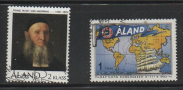 Aland Finland Scott 62-3 1992 von Knorring & Cape Horn stamp set used