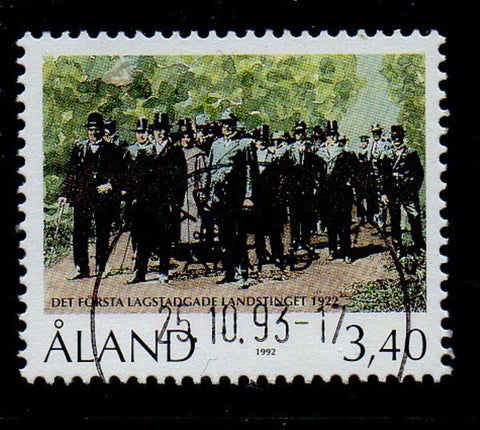 Aland Finland Scott 68 1992 Aland Parliament stamp used