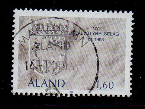 Aland Finland Scott 71 1993 Coat of Arms stamp used