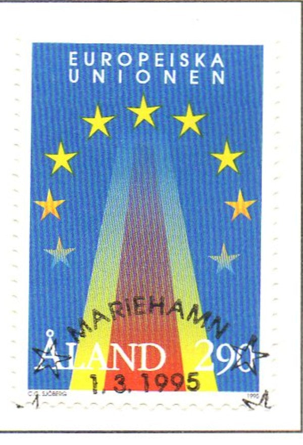 Aland Scott  113 1995 European Union stamp Used