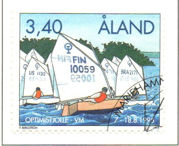 Aland Scott  118 1995 Dinghy World Championships stamp used