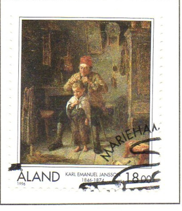 Aland Scott  129 1996 Jansson painting stamp used