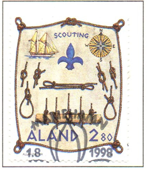 Aland Scott  148 1998 Scouting stamp used