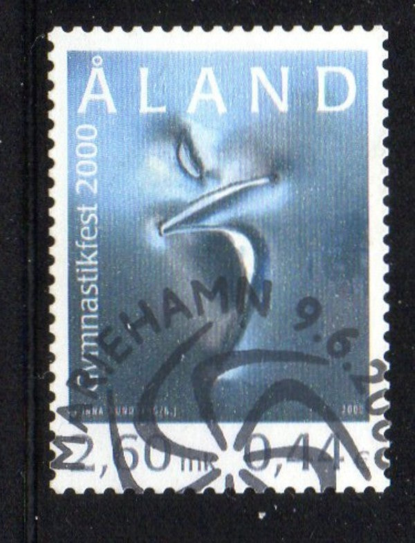 Aland Scott  167 2000 Gymnastics Festival stamp used