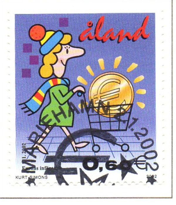 Aland Scott  201 2002 Introduction of Euro stamp used