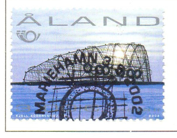 Aland Scott  205 2002 Sculpture stamp  used