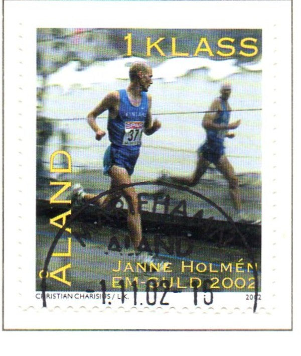 Aland Scott  209 2002  Marathon Runner stamp used