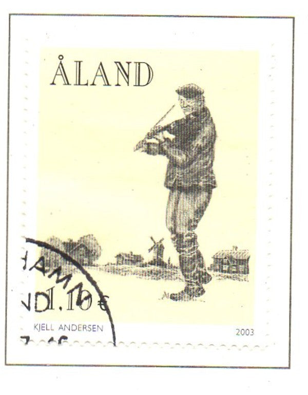 Aland Scott  216 2003 Folk Music Festival stamp used