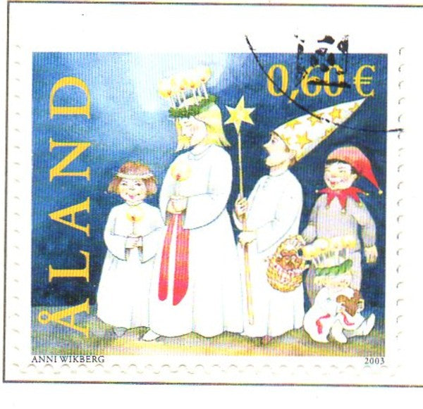 Aland Scott  217 2003 St Lucia's Day stamp used