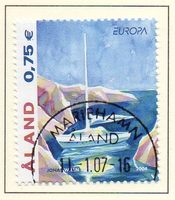 Aland Scott  224 2004 Europa stamp used