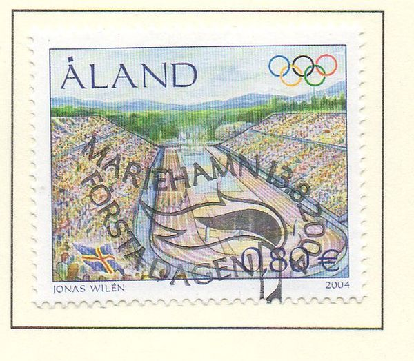 Aland Scott  226 2004 Athens Olympics stamp used