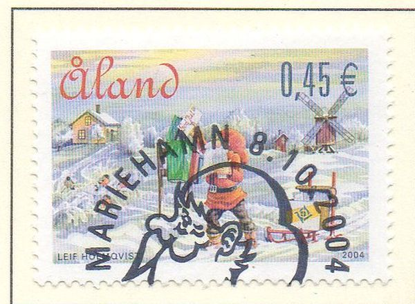 Aland Scott  229 2004 Christmas stamp used