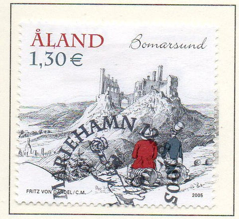 Aland Finland Scott  237 2005 Bardel Painting stamp used