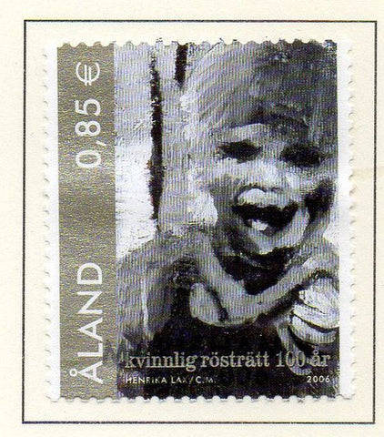 Aland Finland Scott  245 2006 Womens Suffrage stamp used
