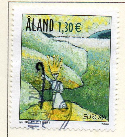 Aland Finland Scott  248 2006 Europa stamp used
