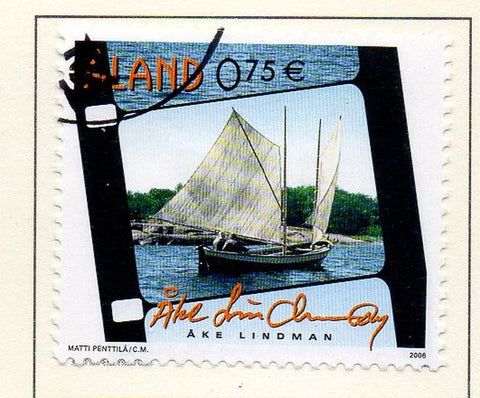 Aland Finland Scott  251 2006 Fishing Ship stamp used