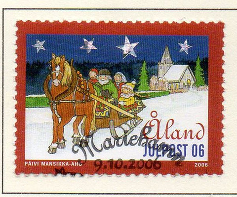 Aland Finland Scott  254 2006 Christmas stamp used