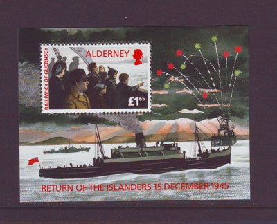 Alderney Sc 90 1995 Return of Islanders stamp sheet mint NH