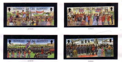 Alderney Scott 119-26 1998 Garrison Island stamp set mint NH