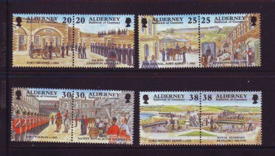 Alderney Scott  134-41 1999  Garrison Island stamp set NH