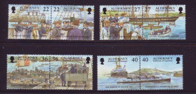 Alderney Scott  176-83 2001 Garrison Island stamp set NH