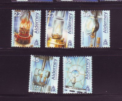 Alderney Scott  191-5 2002 Les Casquests Lighthouse stamp set NH
