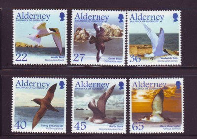 Alderney Scott  209-14 2003 Migrating Seabirds stamp set NH