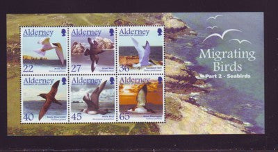 Alderney Scott  214a 2003 Migrating Seabirds stamp sheet NH