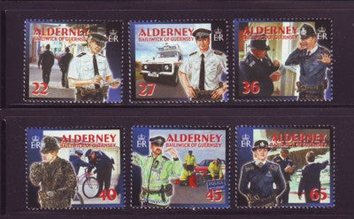 Alderney Scott  215-20 2003 Island Police stamp set NH