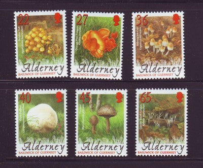 Alderney Scott  221-60 2004 Fungi stamp set NH