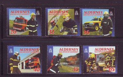 Alderney Scott  239-44 2004 Fire Services stamp set NH